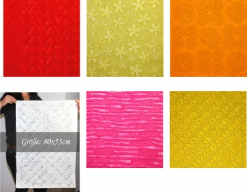 Handgeschöpftes Papier mit Motiven 10er Set Farbe [80x55cm]