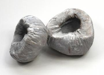 Kokostopf in Stonewashed [Ø 12-16cm, Öffnung Ø 5-8cm]