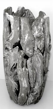 Wurzelholz Vase groß ca. 70cm blackwashed