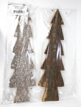 Rindenholz Tanne in Stonewashed & Natur ( ca. 50cm - 2 tlg. )