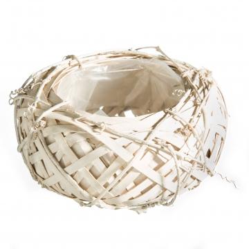 Rebentopf ´Style´ rund Ø 20cm H8,5cm in Weiß mit Pflanzfolie