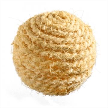 Deko Ball mit Kordel gebleicht ( Ø 6,5cm ) (350 Stück)