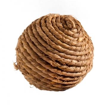Deko Ball mit Kordel Natur ( Ø 6,5cm ) (350 Stück)