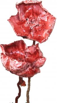 Palm Cup am Stiel gewachst rot antik (40 Stück)