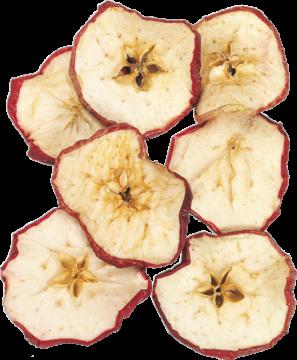 Apfelscheiben in Rot ( 500g )