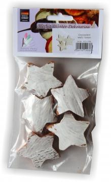 Cocosstern in Weiß / Natur im Polybeutel ( 5 Stück ) (25 Stück)