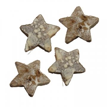 Cocosstern Groß in Stonewashed ( ca. 4,5 cm - 100 Stück )