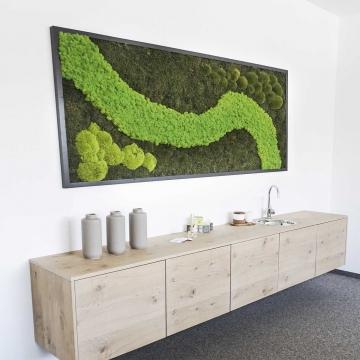 Moosbild Dschungel ´Individual´ 182 x 82,5 cm mit Rahmen