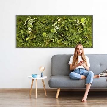 Moosbild Dschungel 182 x 82,5 cm mit Rahmen