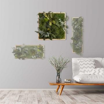 Moosbild ´Dschungel´ 55 x 55 cm mit Rahmen aus geölter Eiche