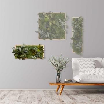 Moosbild ´Dschungel´ 57 x 27 cm mit Rahmen aus geölter Eiche