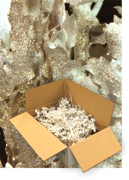 Eichenlaub geglittert in Gold Glitter ( je 1 Karton ca. 1kg )