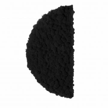 Moos ´Half Moon´ Islandmoos Kaviar Ø 40 cm randbemoost