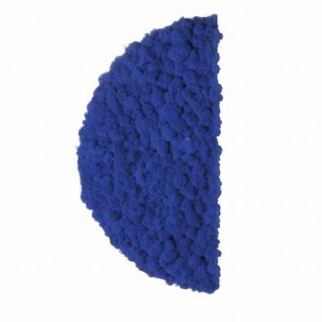 Moos ´Half Moon´ Islandmoos Königsblau Ø 40 cm randbemoost