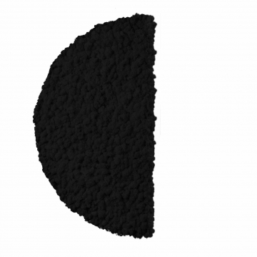 Moos ´Half Moon´ Islandmoos Kaviar Ø 60 cm randbemoost