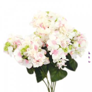 Kunstblume Hortensien Kunststrauß in Rosa (18 Stück)