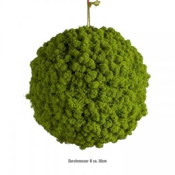 Moos Ball aus Islandmoos in Apfelgrün / Hellgrün Ø 30cm