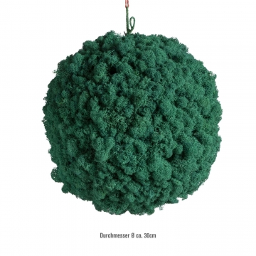 Moos Ball aus Islandmoos in Karibik / Hellblau Ø 30cm