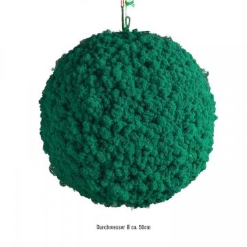 Moos Ball aus Islandmoos in Karibik / Hellblau Ø 50cm