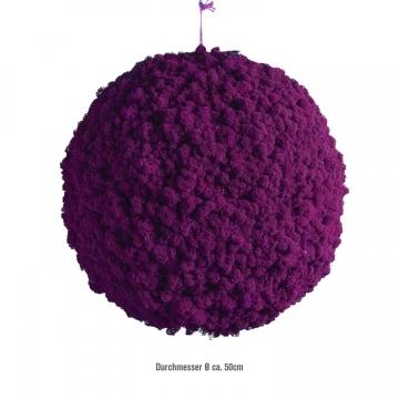 Moos Ball aus Islandmoos in Purpur / Lila Ø ca. 58cm
