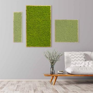 Moosbild Islandmoos 100 x 60 cm mit Tischlerrahmen aus geölter Lärche