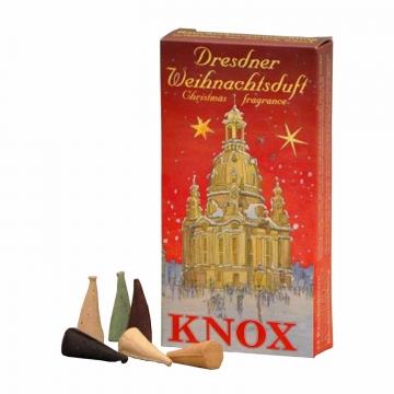KNOX Räucherkerzen Räucherduft Dresdener Weihnachtsduft Rot 24 Stück/ Pck.