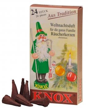 KNOX Räucherkerzen ´Weihnachtsduft´ ( 24 Stück/Pkg. )
