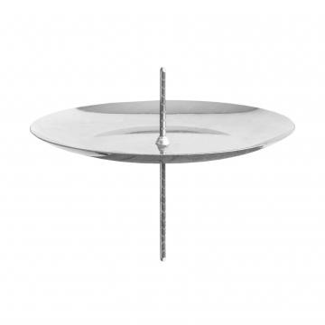 Kerzenhalter mit Dorn in Silber Ø 7,5cm