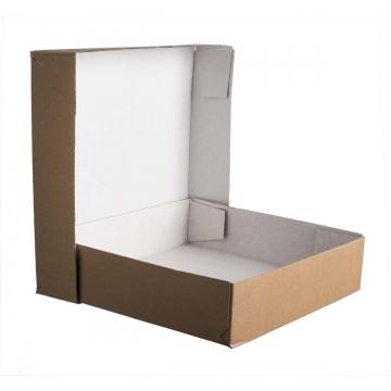 Kartonage Aufrichteschachtel [Deckel und Boden] 260 x 260 x 60 mm   (5 Stück)