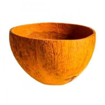 Kokosschale Becher gefärbt in Orange ( ca. Ø 10-13cm )