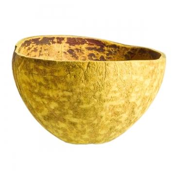 Kokosschale Becher gefärbt in Gelb ( ca. Ø 10-13cm )