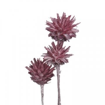 Leukospernum mit Stiel in Frosted Pink Erika    (600 Stück)