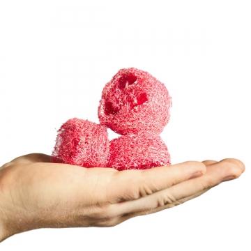 Luffa geschnitten in Flamingospring [1kg = ca. 600 Stück]