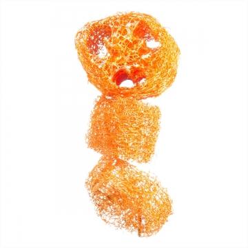 Luffa geschnitten in Orangespring [1kg = ca. 600 Stück]