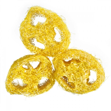 Luffa geschnitten in Yellowspring [1kg = ca. 600 Stück]