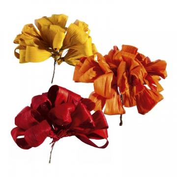 Maisschleife am Draht im 3fach Farbmix    (500 Stück)
