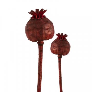 Mohn am Stiel Klein in Rot (1500 Stück)