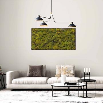 Moosbild Gigant Polstermoos / Bärenfell 150 x 75 cm auf Holzfaserplatte anthrazit