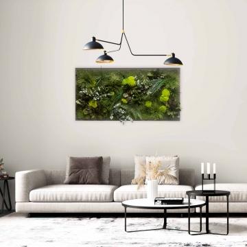 Moosbild Gigant Dschungel 150 x 75 cm auf Holzfaserplatte anthrazit