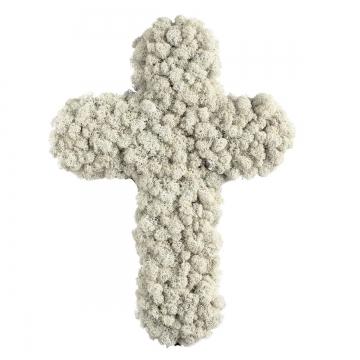 40`er Kreuz Moosteil Randgesteckt (10 Stück)