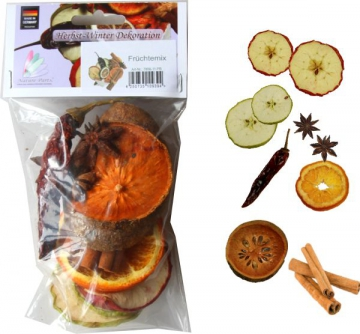 Fruchtmix im Polybeutel ( 7 verschiedene Früchte )   (25 Stück)