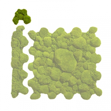 Ballenmoos Puzzle Ecke in Apfelgrün / Hellgrün 15,2 x 15,2cm