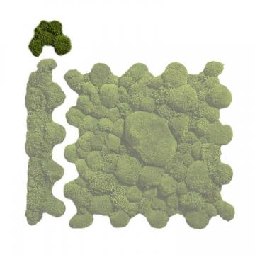 Ballenmoos Puzzle Ecke in Waldgrün / Dunkelgrün 15,2 x 15,2cm