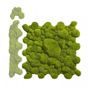 Ballenmoos Puzzle Platte in Apfelgrün / Hellgrün 72 x 72cm