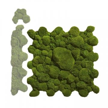 Ballenmoos Puzzle Platte in Waldgrün / Dunkelgrün 72 x 72cm