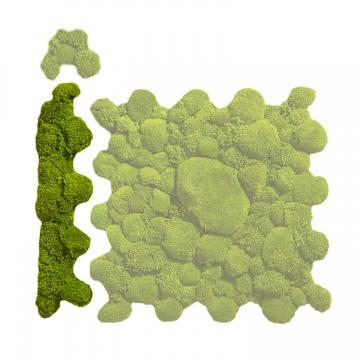Ballenmoos Puzzle Randteil in Apfelgrün / Hellgrün 71,5 x 15,3cm