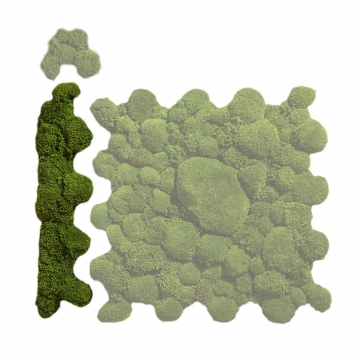 Ballenmoos Puzzle Randteil in Waldgrün / Dunkelgrün 71,5 x 15,3cm