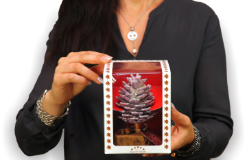 Oppacher Räucherbaum / Räuchermännchen Brombeer mit Glitter ( Größe des Baumes ca. 15x10cm ) (12 Stück)