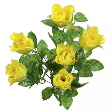 Rosenstrauß Gelb (12 Stück)