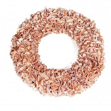 Baumwollfrucht Kranz gewachst in Kupfer Glitter ( Ø 30cm )
